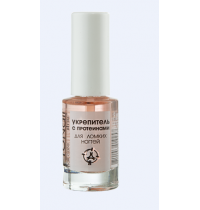 Strengthener with proteins for brittle nails