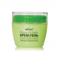 Day/Night Cucumber and Lime Juice Cream Gel for Facial Skin and Skin around the Eyes