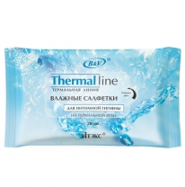 Intimate hygiene wet wipes on thermal water