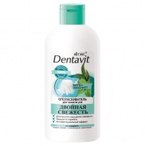 "Dentavit Mouthwash ""Mint + Eucalyptus"" Double freshness"