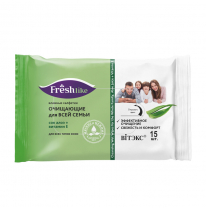 WET WIPES CLEANSING FOR THE WHOLE FAMILY aloe juice + vitamin E